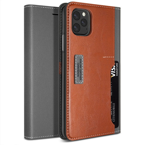 Obliq iPhone 11 Pro Max Case K3 Wallet Black Gray Brown