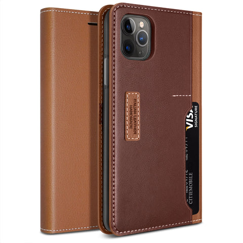 Obliq iPhone 11 Pro Case K3 Wallet Brown Burgundy
