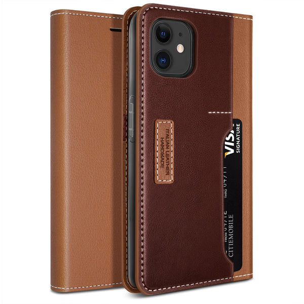 Obliq iPhone 12 case K3 Wallet Brown Burgundy