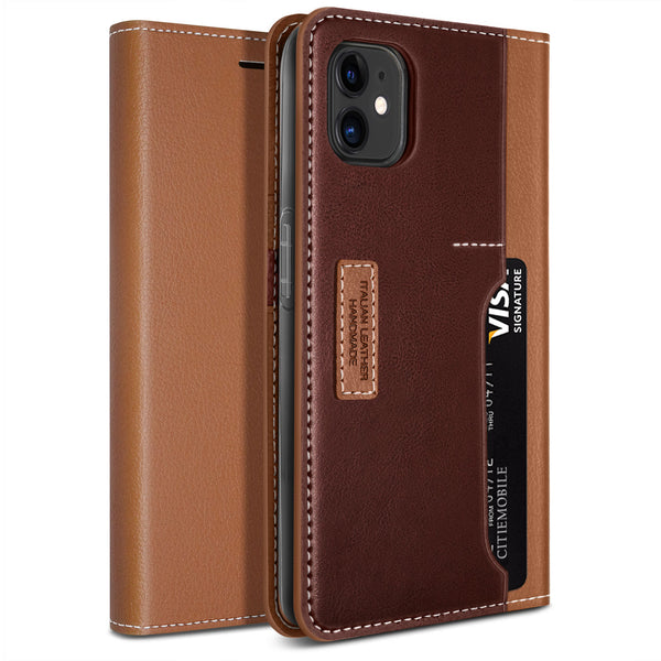 Obliq iPhone 12 Mini case K3 Wallet Brown Burgundy