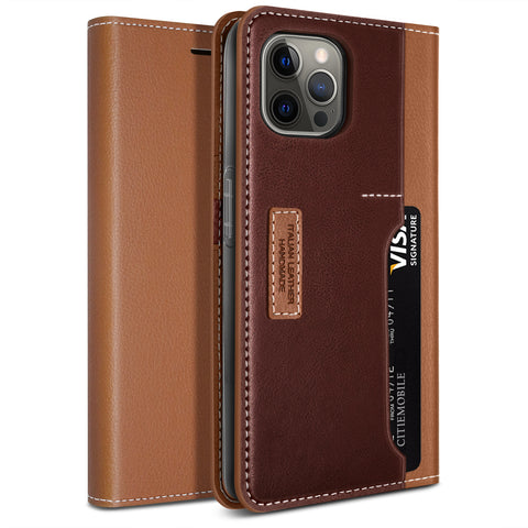 Obliq iPhone 12 Pro Max case K3 Wallet Brown Burgundy