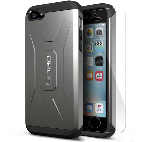 OBLIQ iPhone SE Case Xtreme Pro Gun Metal