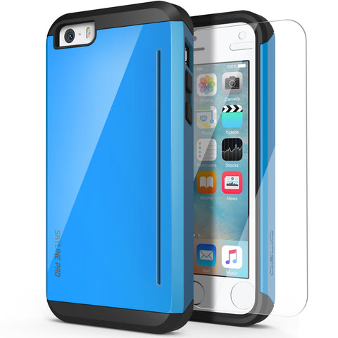 OBLIQ iPhone SE Case Skyline Pro Blue