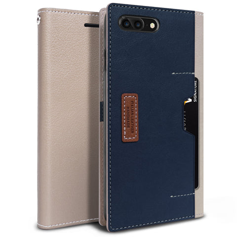 OBLIQ iPhone 7 Plus Case K3 Wallet Mud Gray Navy