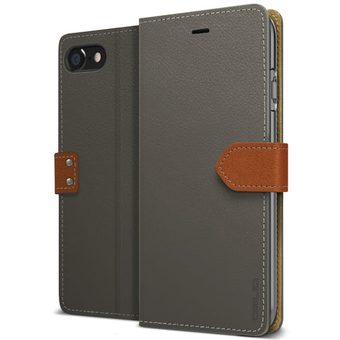 OBLIQ iPhone 7 Case K1 Wallet Black Gray