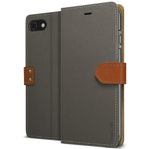 OBLIQ iPhone 8 Case K1 Wallet Black Gray