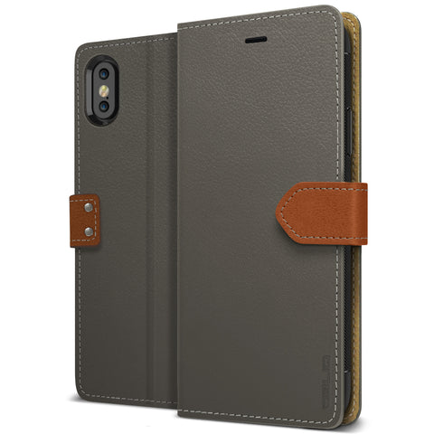 OBLIQ iPhone XS Case K1 Wallet Black Gray