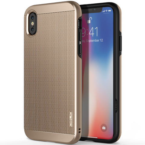 OBLIQ iPhone X Case Slim Meta Champagne Gold