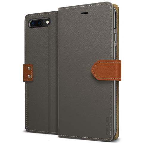 OBLIQ iPhone 8 Plus Case K1 Wallet Black Gray