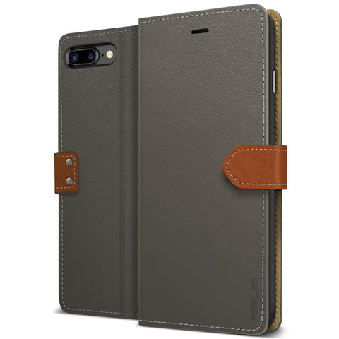 OBLIQ iPhone 7 Plus Case K1 Wallet Black Gray