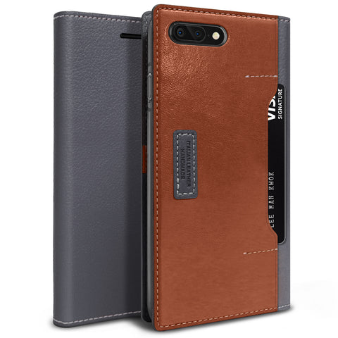 OBLIQ iPhone 8 Plus Case K3 Wallet Black Gray Brown
