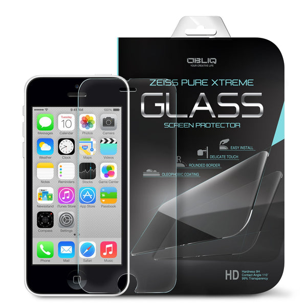 OBLIQ iPhone 5C Screen Protector Tempered Glass Protection 1PK