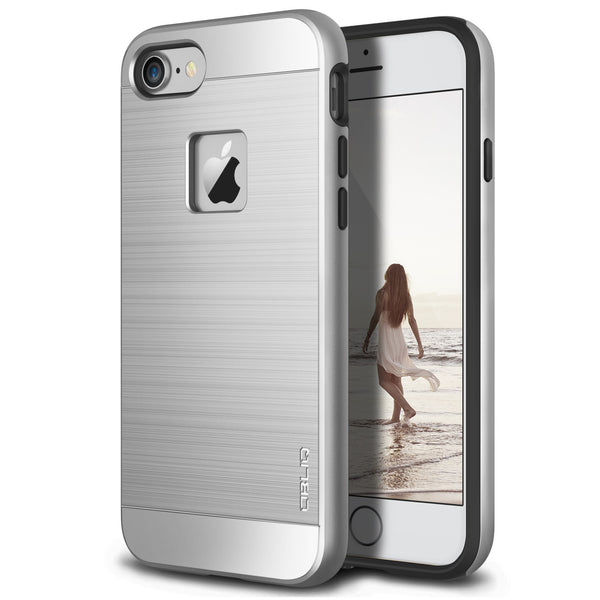 OBLIQ iPhone 7 Case Slim Meta Silver Titanium
