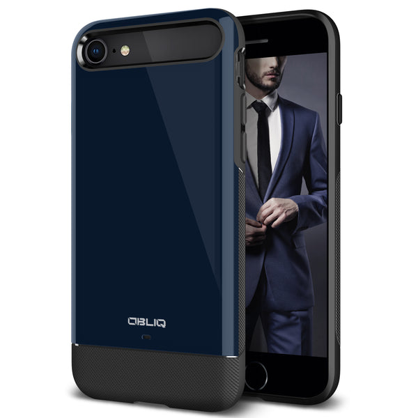 OBLIQ iPhone 8 Case Dual Meta Deep Blue