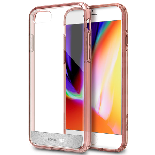OBLIQ iPhone 8 Case Naked Shield Rose Gold