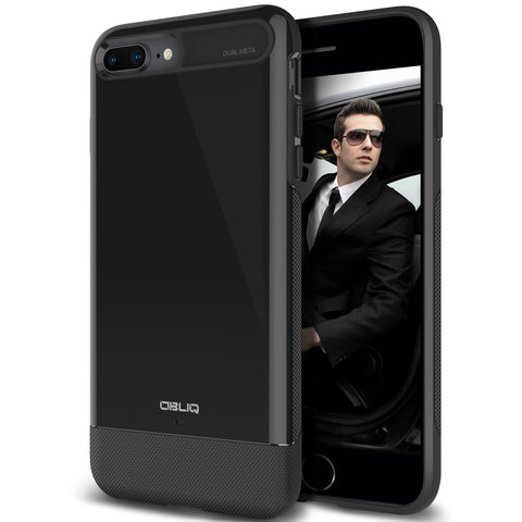 OBLIQ iPhone 8 Plus Case Dual Meta Black