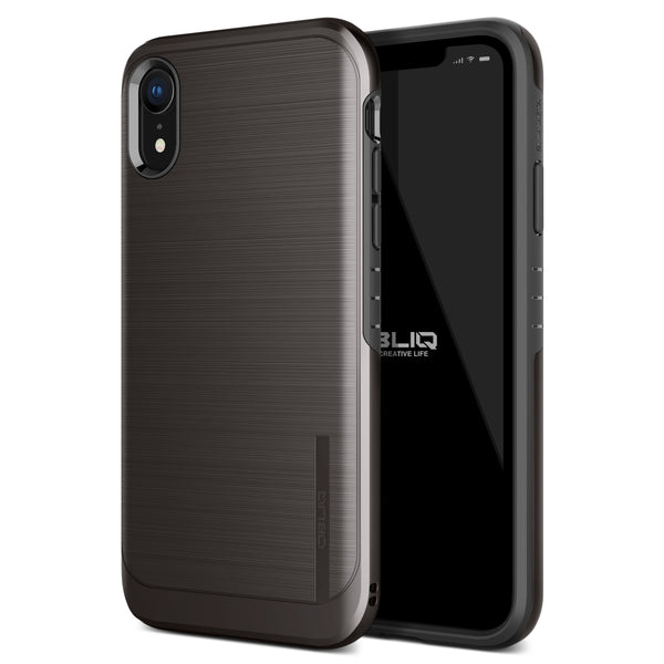 iPhone XR Case Slim Meta Titanium Black