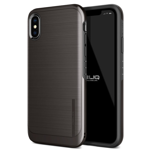 iPhone XS Max Case Slim Meta Titanium Black
