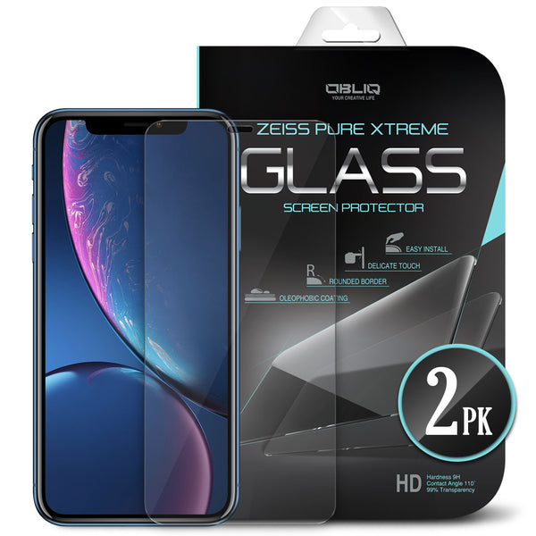 iPhone XR Screen Protector Tempered Glass Protection 2PK