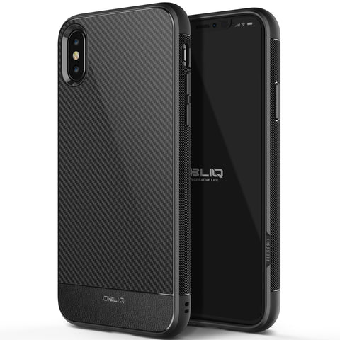 OBLIQ iPhone XS Case Flex Pro Black