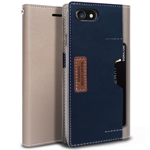 OBLIQ iPhone 7 Case K3 Wallet Mud Gray Navy
