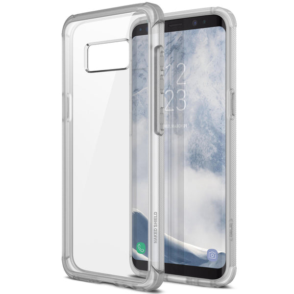 OBLIQ Galaxy S8 Case Naked Shield Frost Clear
