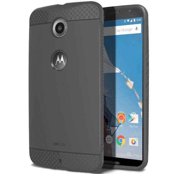 OBLIQ Nexus 6 Case Flex Pro Gray