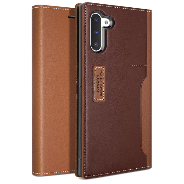 Galaxy Note 10 Case K3 Wallet Brown/Burgundy