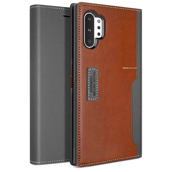 Galaxy Note 10 Plus Case K3 Wallet Black Gray/Brown