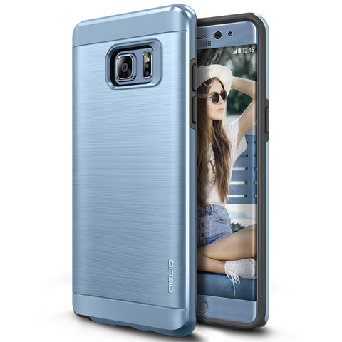 OBLIQ Galaxy Note 7 Case Slim Meta Blue Coral