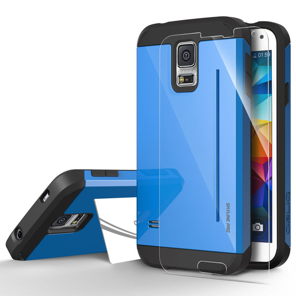 OBLIQ Galaxy S5 Case Skyline Pro Blue