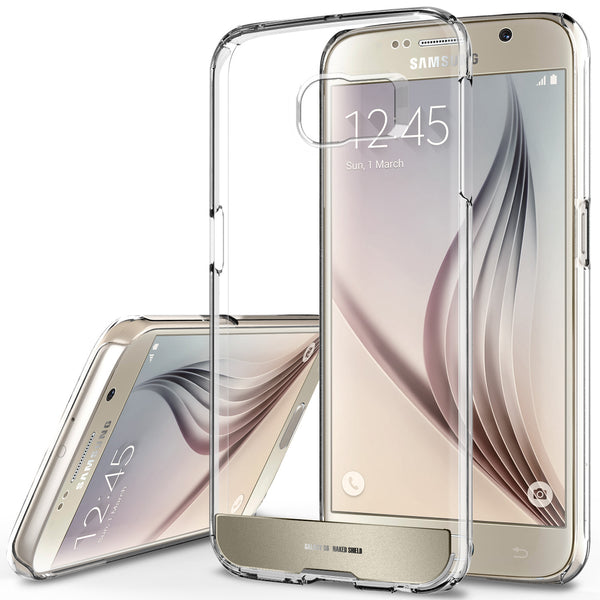 OBLIQ Galaxy S6 Case Naked Shield Gold Platinum