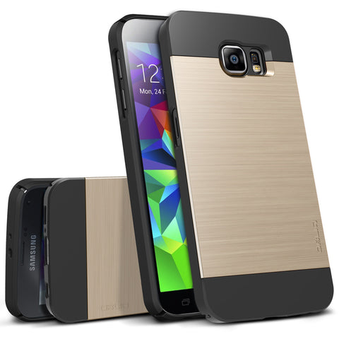OBLIQ Galaxy S6 Case Slim Meta Gold Platinum