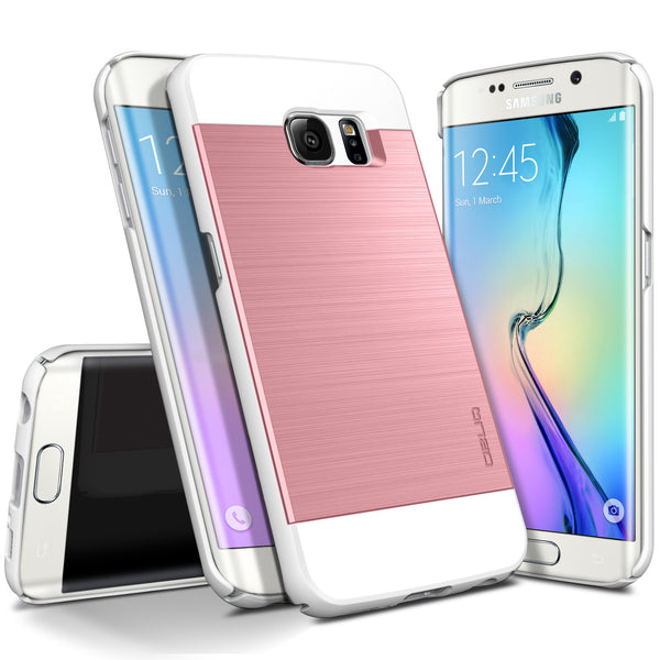 OBLIQ Galaxy S6 Edge Case Slim Meta Metallic Pink