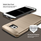 OBLIQ Galaxy S7 Edge Case Slim Meta Champagne Gold