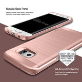 OBLIQ Galaxy S7 Edge Case Slim Meta Rose Gold