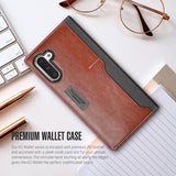 Galaxy Note 10 Case K3 Wallet Black Gray/Brown