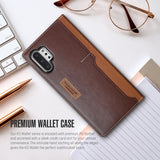 Galaxy Note 10 Plus Case K3 Wallet Brown/Burgundy