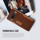 Galaxy S10 K3 Wallet Brown/Burgundy