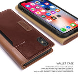 OBLIQ iPhone X Case K3 Wallet Brown Burgundy