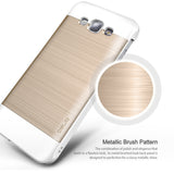 OBLIQ Galaxy A8 Case Slim Meta White and Gold Platinum
