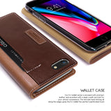 OBLIQ iPhone 8 Case K3 Wallet Brown Burgundy
