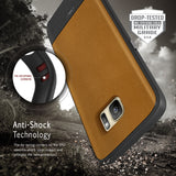 OBLIQ Galaxy S7 Case Flex Pro Brown