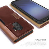 OBLIQ Galaxy S9 Case K3 Wallet Brown Burgundy