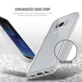 OBLIQ Galaxy S8 Plus Case Naked Shield Frost Clear