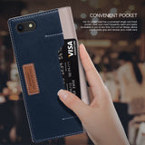 OBLIQ iPhone 8 Case K3 Wallet Mud Gray Navy