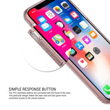 OBLIQ iPhone X Case Naked Shield Rose Gold