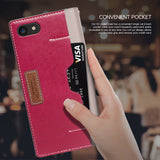 OBLIQ iPhone 7 Case K3 Wallet Mud Gray Rose Pink