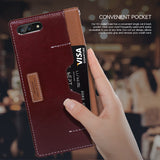 OBLIQ iPhone 7 Plus Case K3 Wallet Brown Burgundy