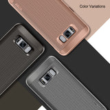 OBLIQ Galaxy S8 Case Slim Meta Copper Gold